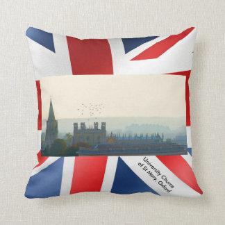 UK landmark images for Throw-Cushion Throw Pillow