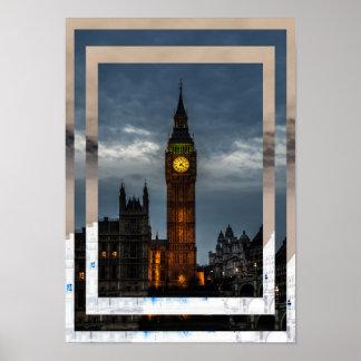 UK London City Big Ben Tower Poster