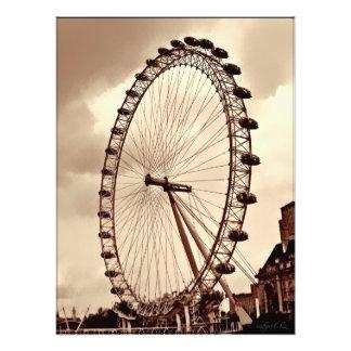 (UK) London Eye Vintage Print Photo