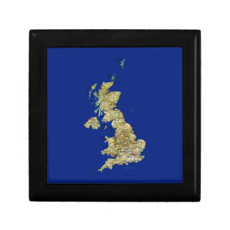 UK Map Gift Box