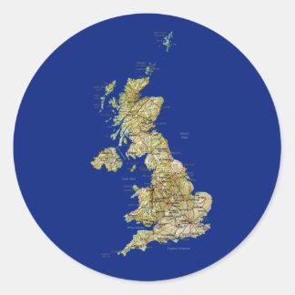 UK Map Sticker
