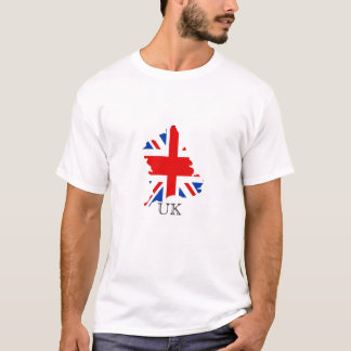UK map with British Flag T-Shirt