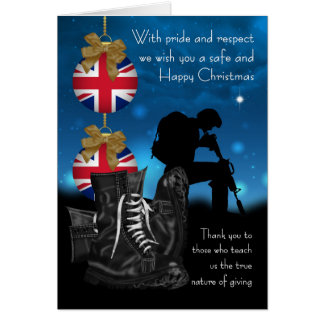 UK Military Christmas Greeting Card With Pride