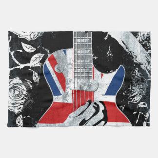 UK Music Guitar Life Tea Towel