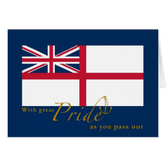 UK Navy Passing Out British White Ensign & Anchor Card
