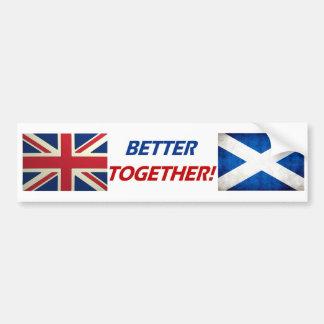 UK OK Better Together Bumper Sticker