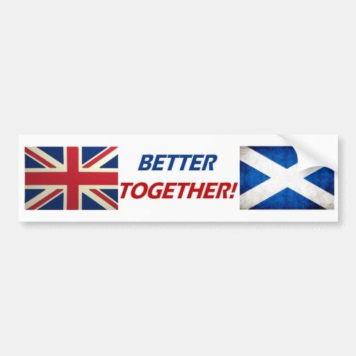 UK OK! Better Together Bumper Sticker