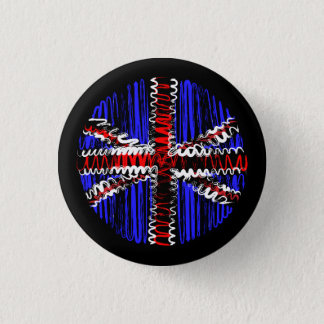 UK on Black 3 Cm Round Badge