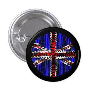 UK on Black 3 Cm Round Badge