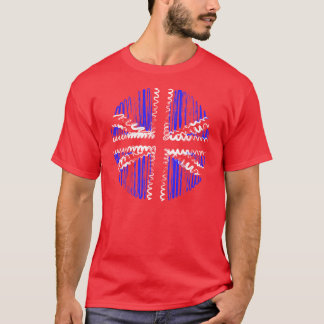 UK on Red Tee Shirt