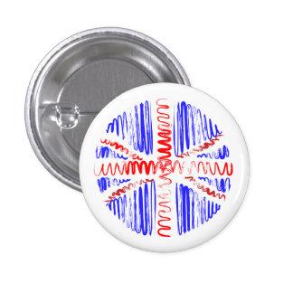 UK on White 3 Cm Round Badge