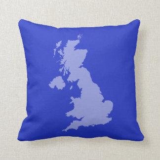 UK outline Cushion - Blue