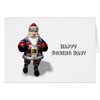 UK Santa Claus On Boxing Day Card