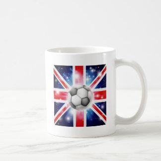 UK soccer flag Basic White Mug