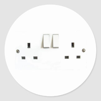 UK Socket design Round Stickers