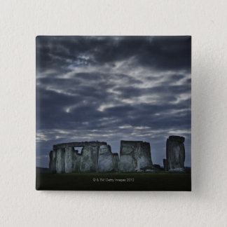 UK, Stonehenge, Scenic view at dawn 15 Cm Square Badge