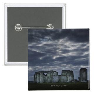 UK, Stonehenge, Scenic view at dawn 15 Cm Square Badge