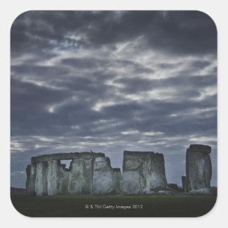 UK, Stonehenge, Scenic view at dawn Square Sticker