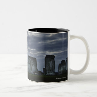 UK, Stonehenge, Scenic view at dawn Two-Tone Coffee Mug