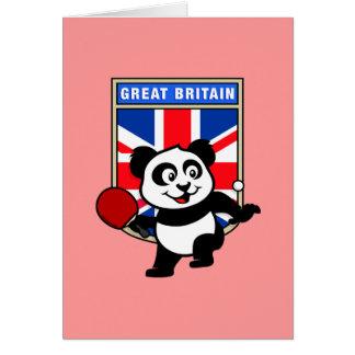 UK Table Tennis Panda Greeting Card