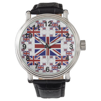 UK Union Jack Flag in Layers #2 Wrist Watch