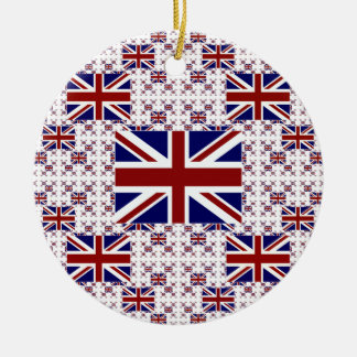 UK Union Jack Flag in Layers Christmas Ornament