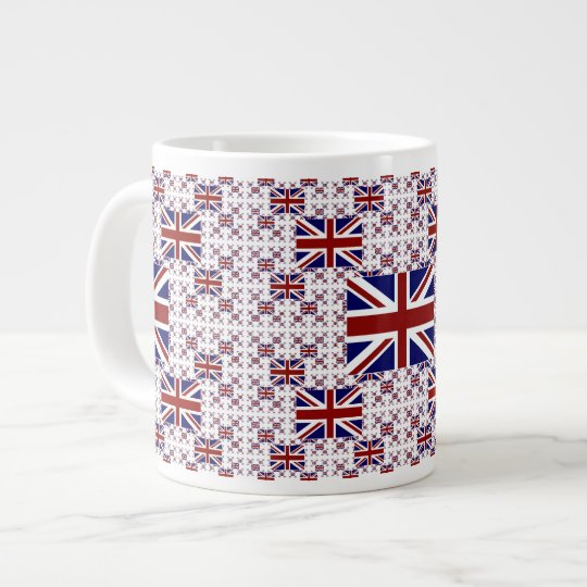 UK Union Jack Flag in Layers Large Coffee