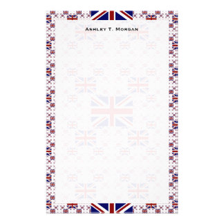 UK Union Jack Flag in Layers Personalised Stationery