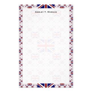 UK Union Jack Flag in Layers Custom Stationery
