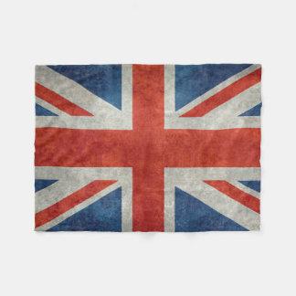 UK Union Jack Flag in retro style vintage textures Fleece Blanket