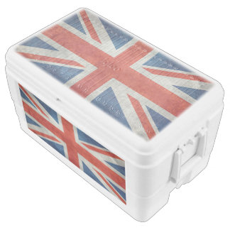 UK Union Jack Flag in retro style vintage textures Ice Chest