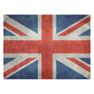 UK Union Jack Flag in retro style vintage textures Tablecloth