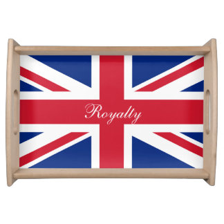 UK Union Jack Flag Patriotic Personalized Serving Tray