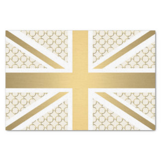UK Union Jack Flag with Gold Equestrian Pattern Tissue Paper