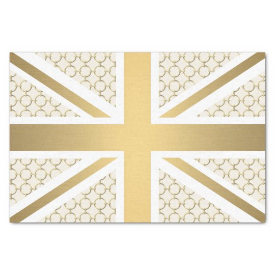 UK Union Jack Flag with Gold Equestrian Pattern