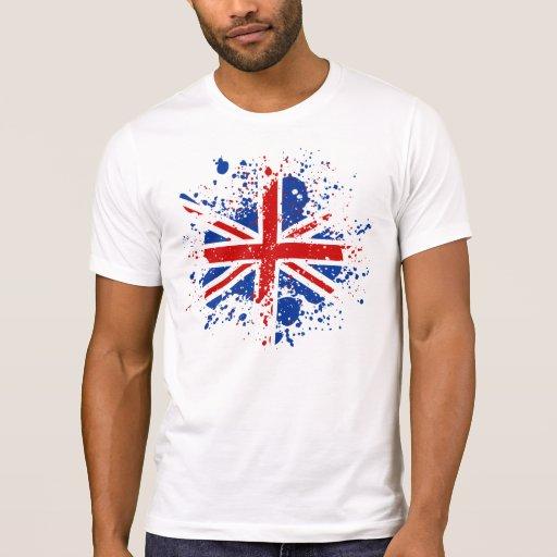UK Union Jack Splash Colors Flag T-Shirt