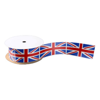 Uk United Kingdom Flag Satin Ribbon