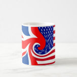 UK/USA FLAG-LOVIN' COUSINS BASIC WHITE MUG