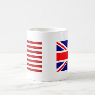UK & USA Flags Side by Side Basic White Mug