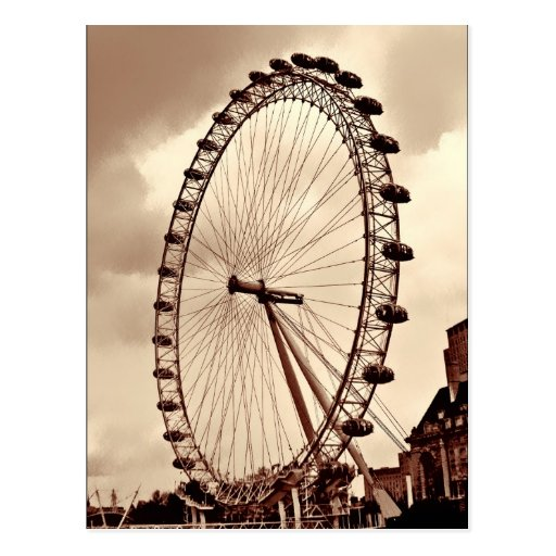 (UK) Vintage London Eye Postcard