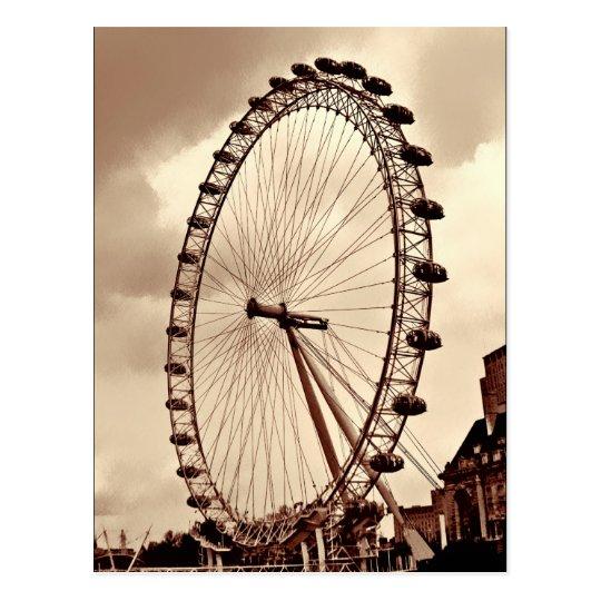 (UK) Vintage London Eye Postcard