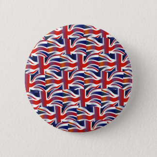 Uk Wavy Flag Wallpaper 6 Cm Round Badge