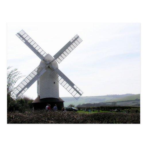(UK) White Windmill Postcard