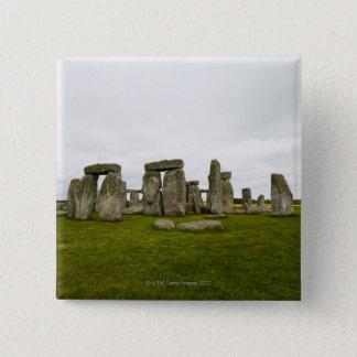 UK, Wiltshire, Stonehenge 15 Cm Square Badge
