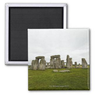 UK, Wiltshire, Stonehenge Square Magnet
