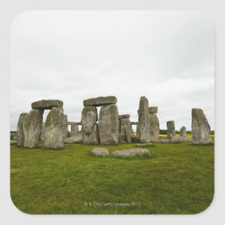 UK, Wiltshire, Stonehenge Square Sticker