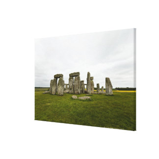 UK Wiltshire Stonehenge Stretched Canvas Print