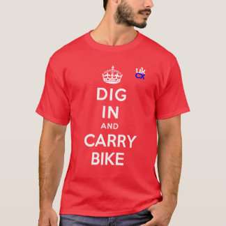 UKCyclocross - Dig In and Carry Bike T-Shirt
