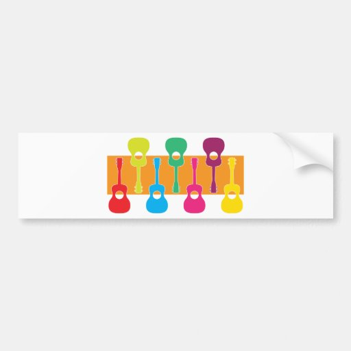Uke Graphic Bumper Stickers