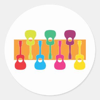Uke Graphic Round Sticker